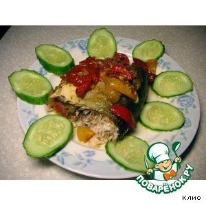 Сиг с овощами в рукаве