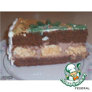 Шоколадный торт с кремом
