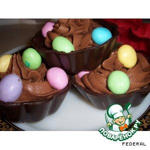 Шоколадные корзиночки