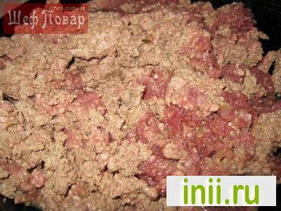 Печеная гречка с мясным фаршем